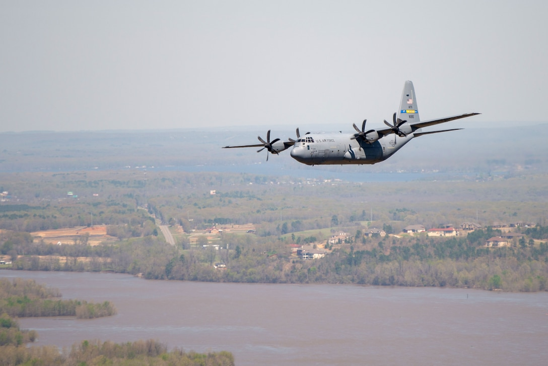 C-130J Super Hercules fly during a turkey shoot competition