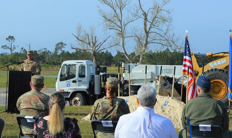 leader speaks during groundbreaking ceremony