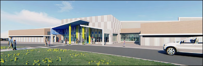 artist rendering of new child development center