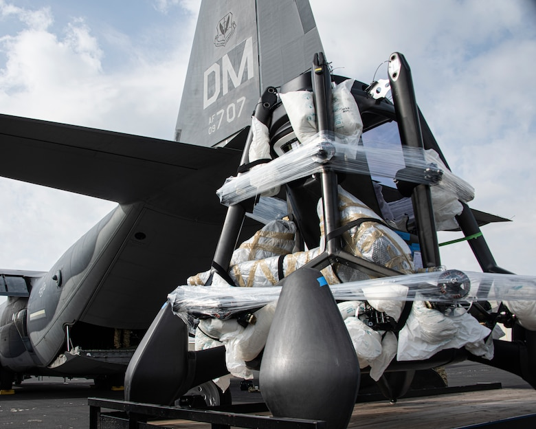 A photo of Airmen loading cargo