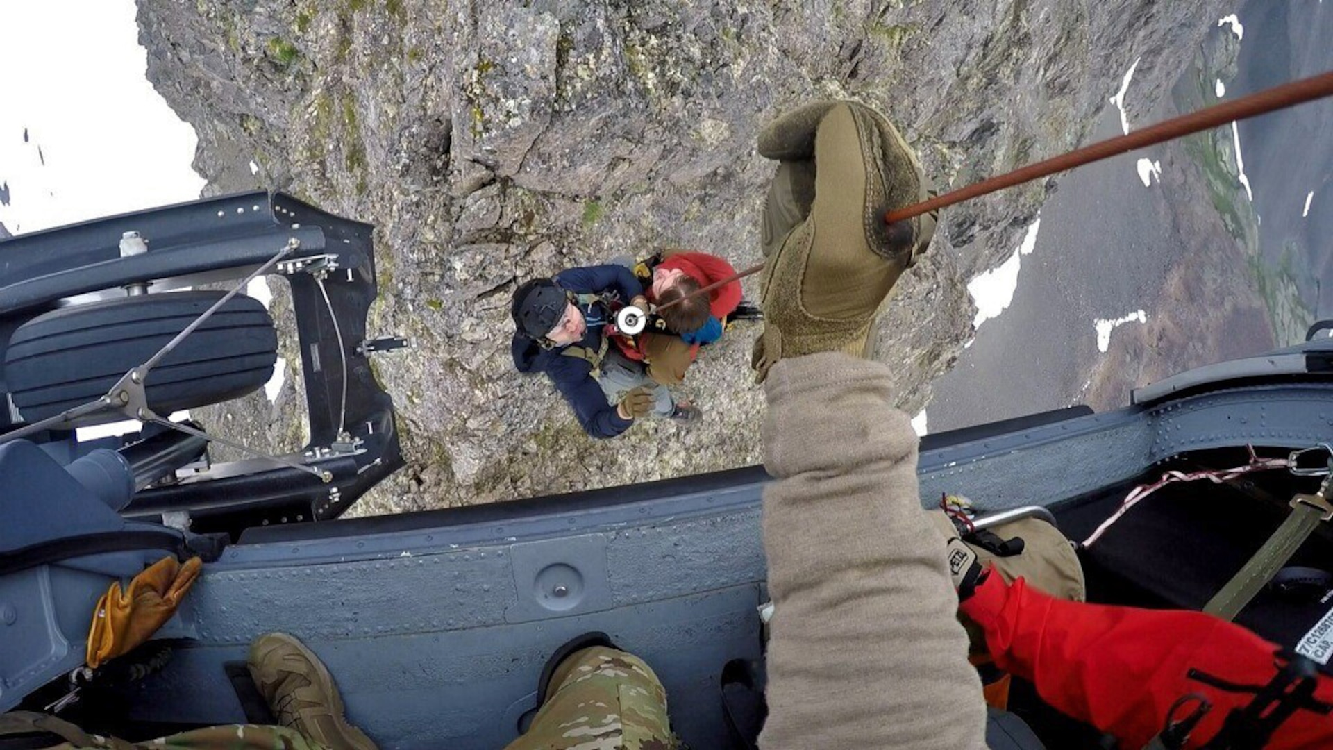 An Alaska Air National Guard HH-60G Pave Hawk helicopter and aircrew assigned to the 210th Rescue Squadron and pararescuemen from the 212th Rescue Squadron saved a distressed hiker on July 26, 2020, at Mount Williwaw east of Anchorage.