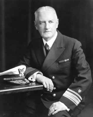 Official photograph of Harry Hamlet during his term as commandant. (U.S. Coast Guard)