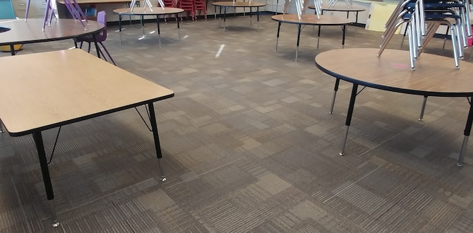 A new carpet is on the school floor