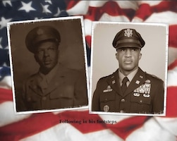 grandfather and grandson in dress uniform