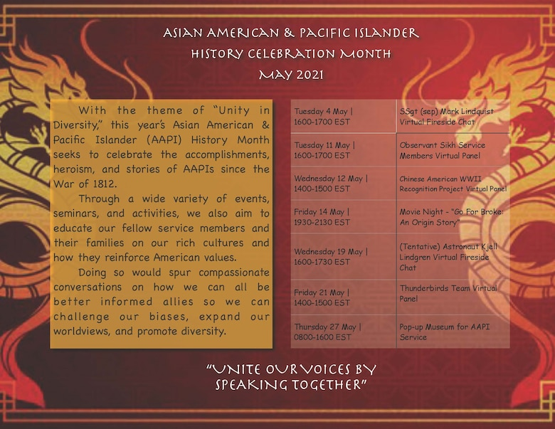 """Unity in Diversity"" - JBLE celebrates Asian/Pacific American Heritage Month"
