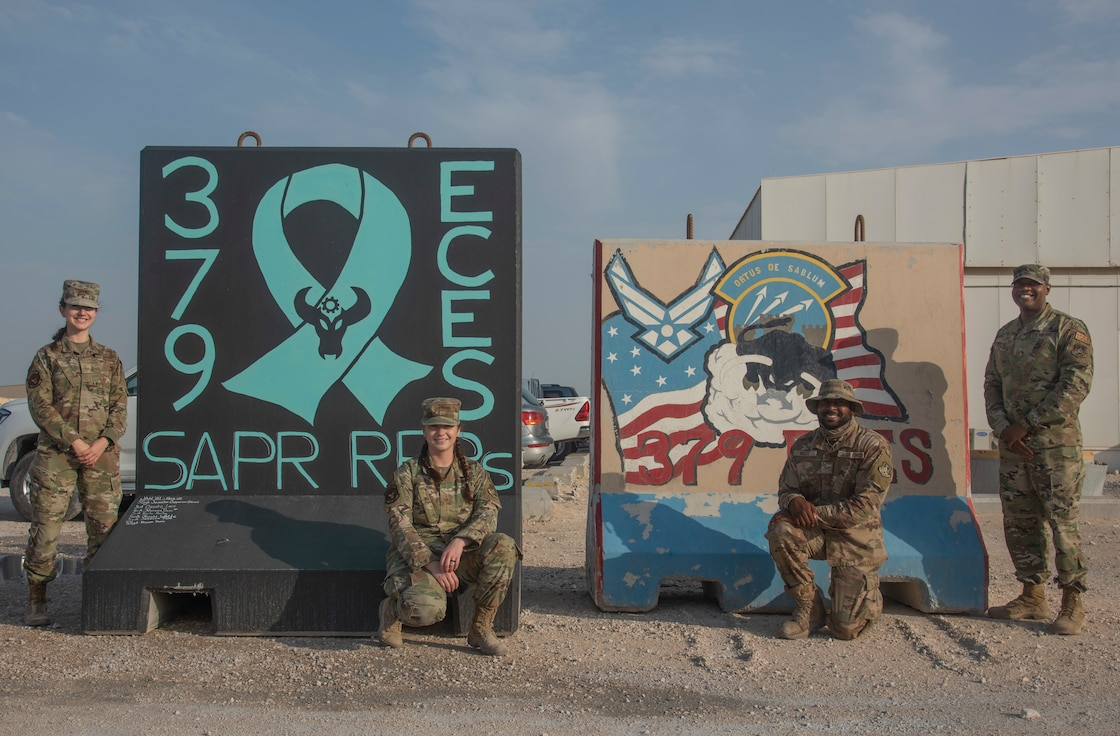 Photo of the 379th Expeditionary Civil Engineering Squadron SAPR representatives