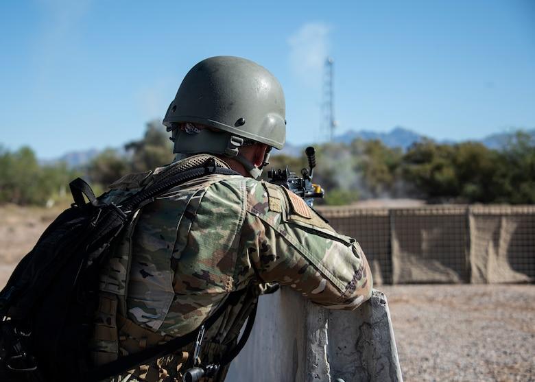 A photo of an Airman conducting training