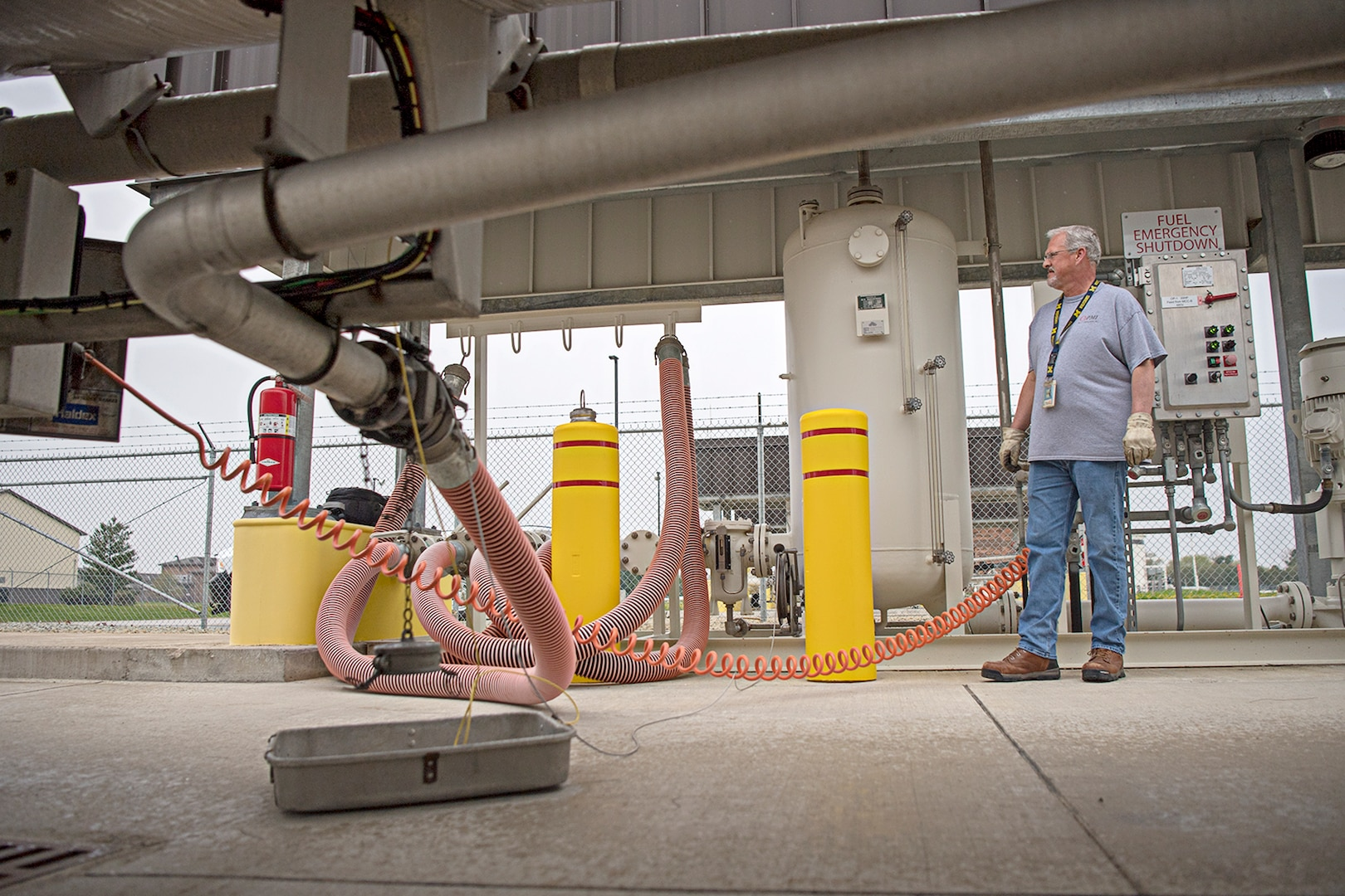 Fueling the fight got a little easier recently as Grissom brought a new $35-million fuel hydrant system on-line.
