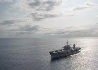Official U.S. Navy file photo of U.S. 7th Fleet flagship USS Blue Ridge (LCC-19).