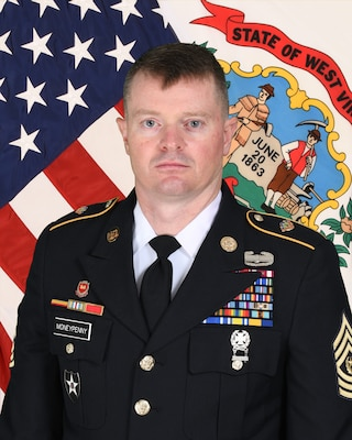 Official photo of Command Sgt. Maj. Chadwick L. Moneypenny.