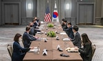 Secretary Blinken's Meeting with Republic of Korea Foreign Minister Chung  - Secretary of State Antony J. Blinken met with Republic of Korea Foreign Minister Chung Eui-yong in London.