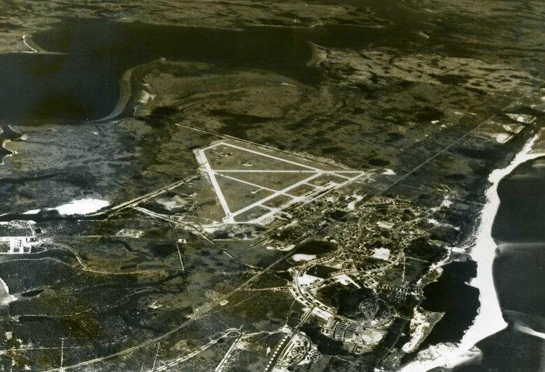 Aerial photo of Tyndall Air Force Base, circa 1943. (U.S. Air Force courtesy photo)