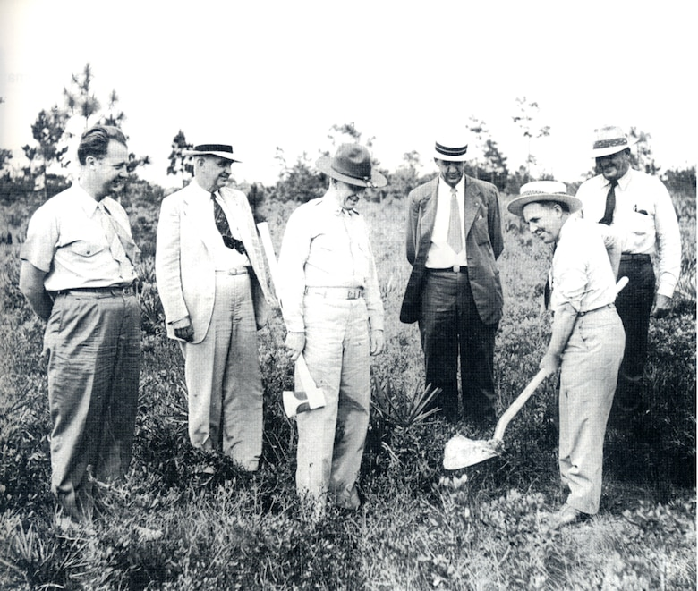 Pictured is the ground breaking ceremony for Tyndall Air Force Base, Florida, circa 1941. (U.S. Air Force courtesy photo)