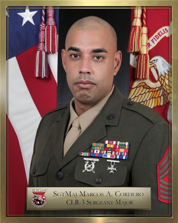 SGT MAJ Marcos A. Cordero official biography