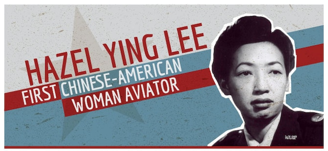 Graphic created highlighting Betty Gillies, the first Chinese-American woman aviator.
