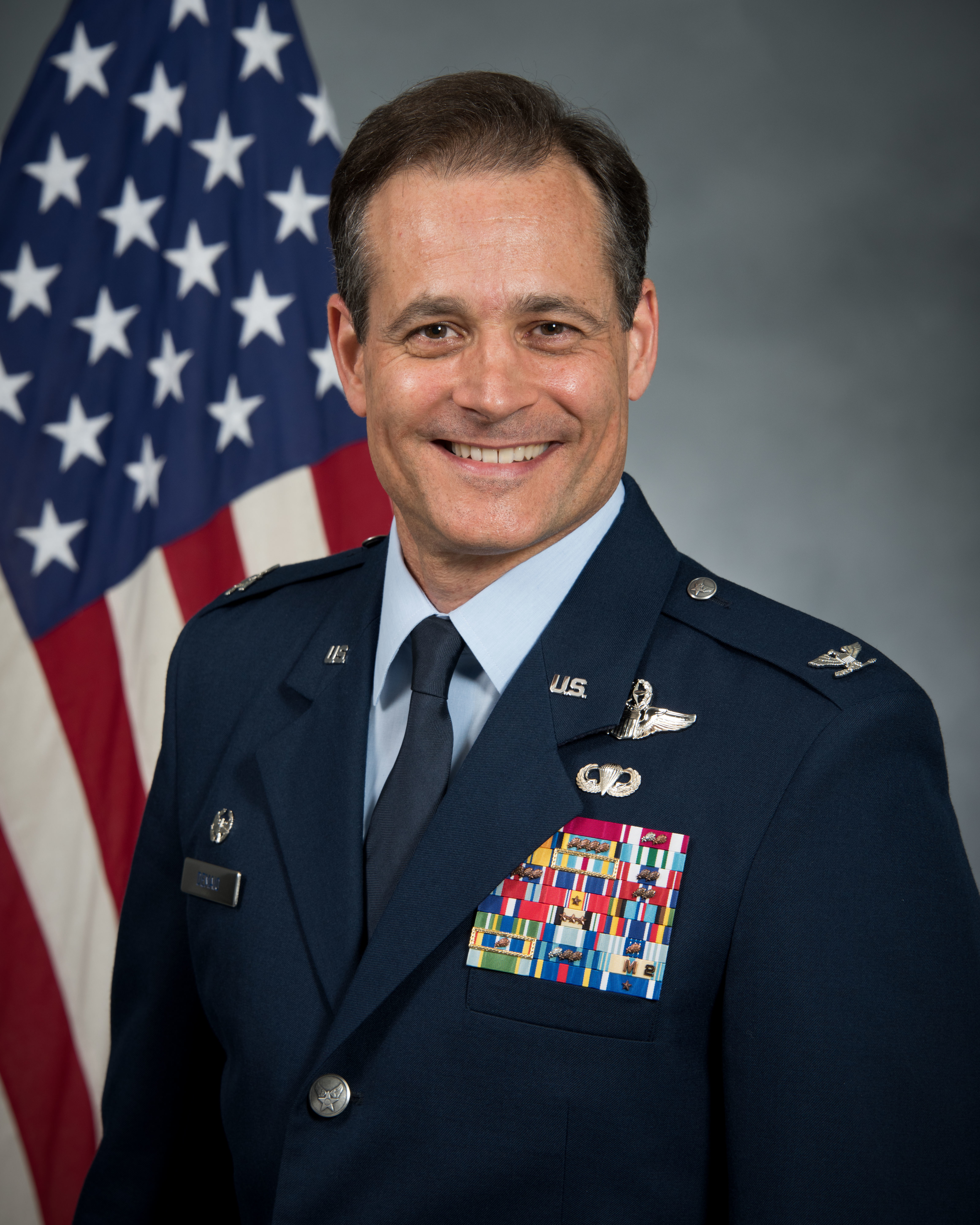 Official portrait of Col. Douglas DeMaio, Commander, 187th Fighter Wing.