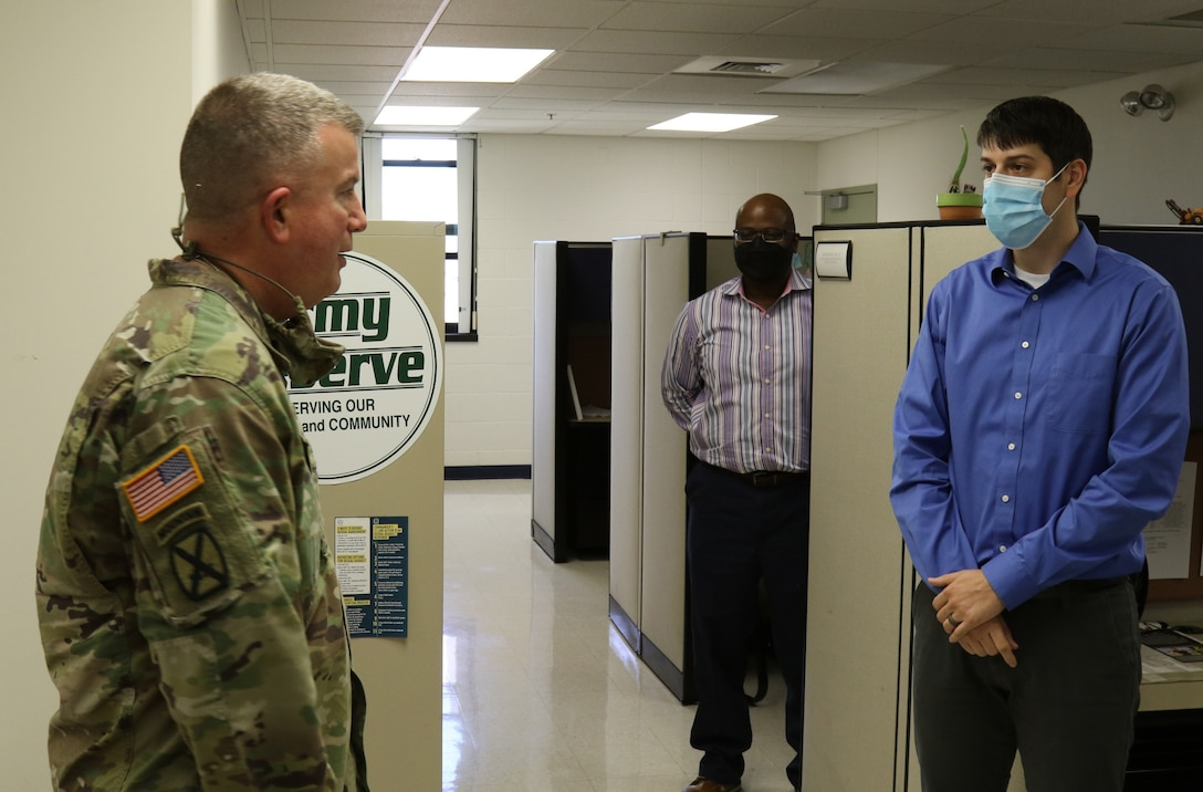 88th Readiness Division CG at  Lanny J. Wallace Reserve Center's Reserve Personnel Action Center