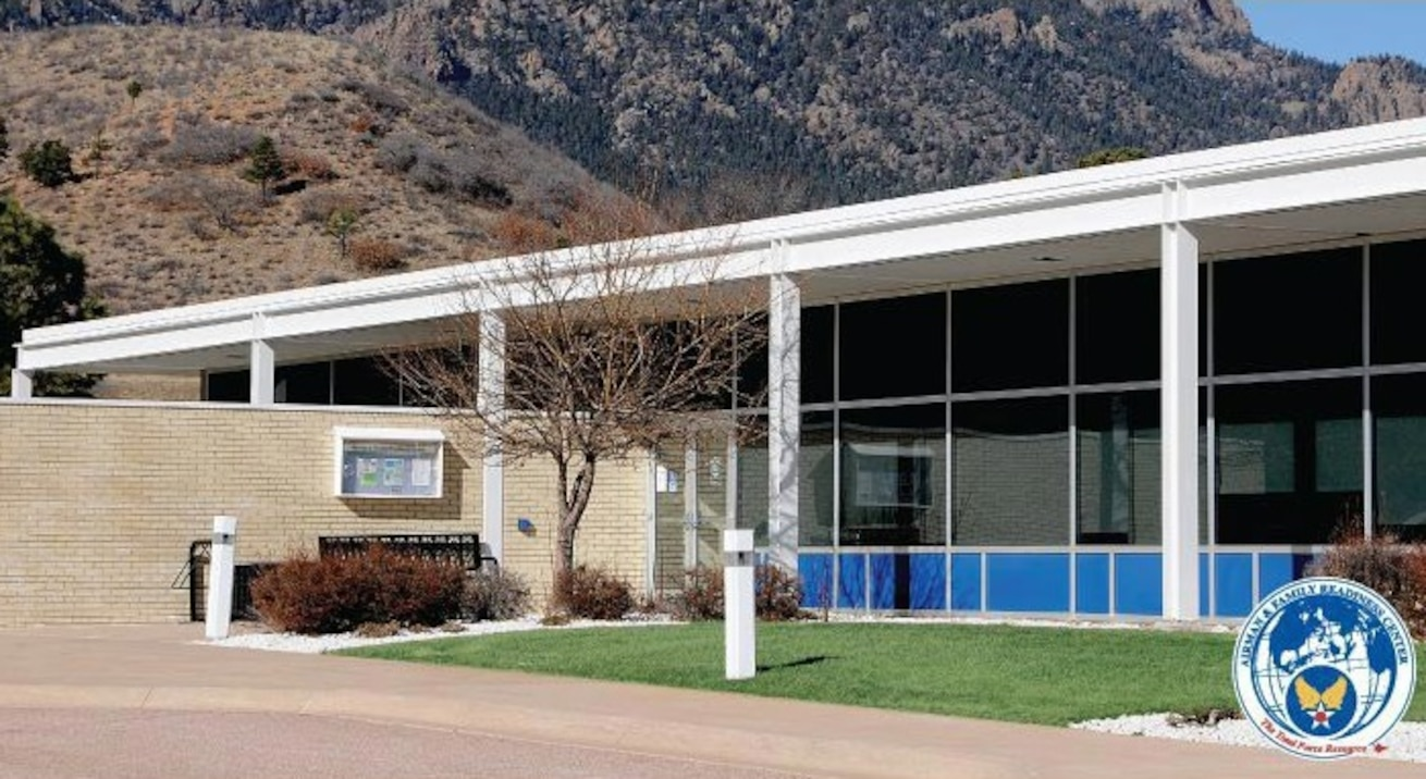 a photo of the Airman and Family readiness center main building