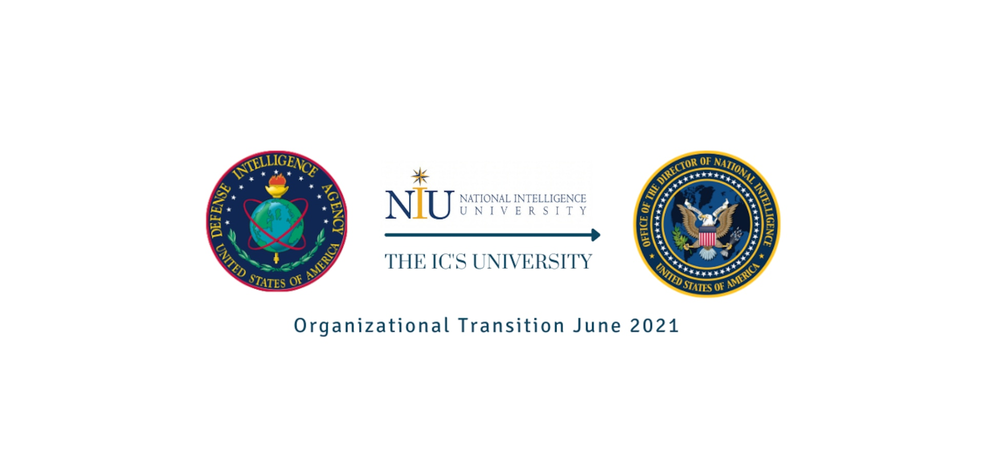NIU will transfer from the Defense Intelligence Agency to the Office of the Director of National Intelligence on June 20.