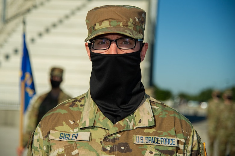 The first flight comprised entirely of U.S. Space Force Guardians graduated from Air Force Basic Military Training on May 6, 2021, at Joint Base San Antonio-Lackland, Texas. Thirty-one men comprised Flight 429, and four women were members of Flight 430. These 35 Guardians were among the total 571 graduates from the 324th Training Squadron. After graduation, the new Guardians will attend technical training at one of three bases: Vandenberg AFB, Calif.; Goodfellow AFB, Texas; and Keesler AFB, Miss. (U.S. Air Force photo by Thomas A. Coney)