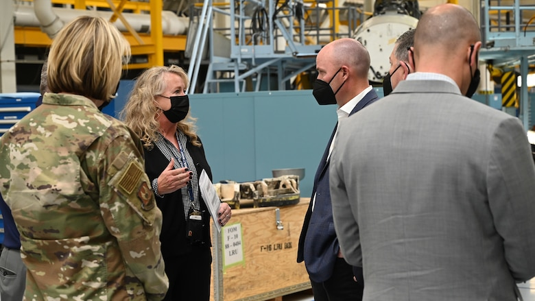 Utah Gov. Spencer Cox tours Hill Air Force Base, Utah, May 5, 2021. The tour provided the governor an overview of missions performed at Hill.