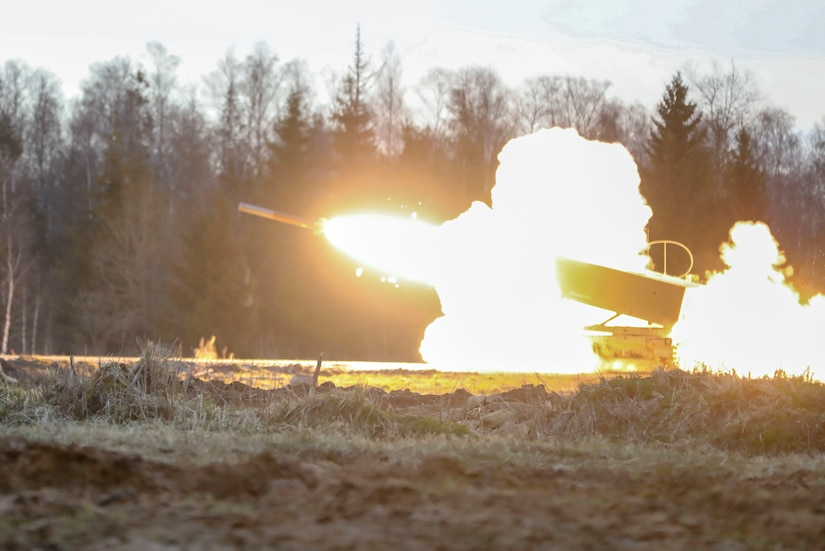 A missile is fired.