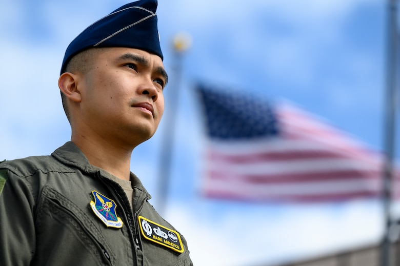 First Lt. David Saul Adriatico, 490th Missile Squadron intercontinental ballistic missile combat crew member, poses for a photo May 4, 2021, at Malmstrom Air Force Base, Mont.
