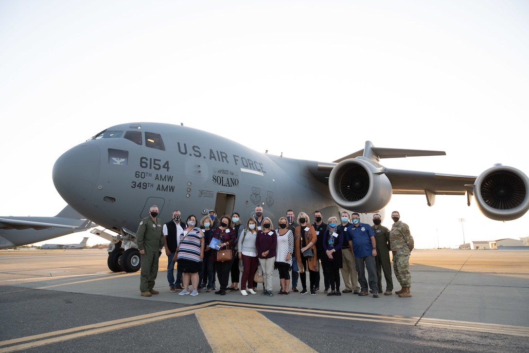 civic leaders touring Dover AFB