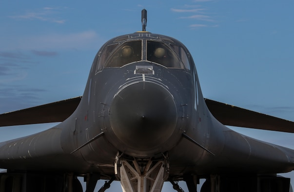 Aircrew members with the 9th Bomb Squadron conduct preflight inspections in a B-1B Lancer at Dyess Air Force Base, Texas, April 19, 2021. This aircraft was flown to Tinker AFB, Okla. for structures prototyping evaluation. (U.S. Air Force photo by Staff Sgt. David Owsianka)