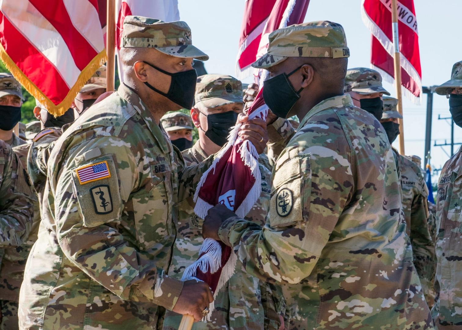 General accepts flag