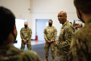 CSAF visits Scott Air Force Base