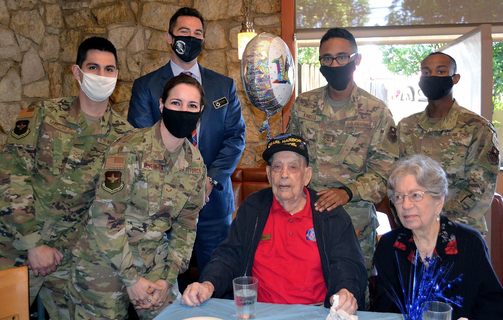 Air Force veteran Kenneth Platt during his 100th birthday celebration
