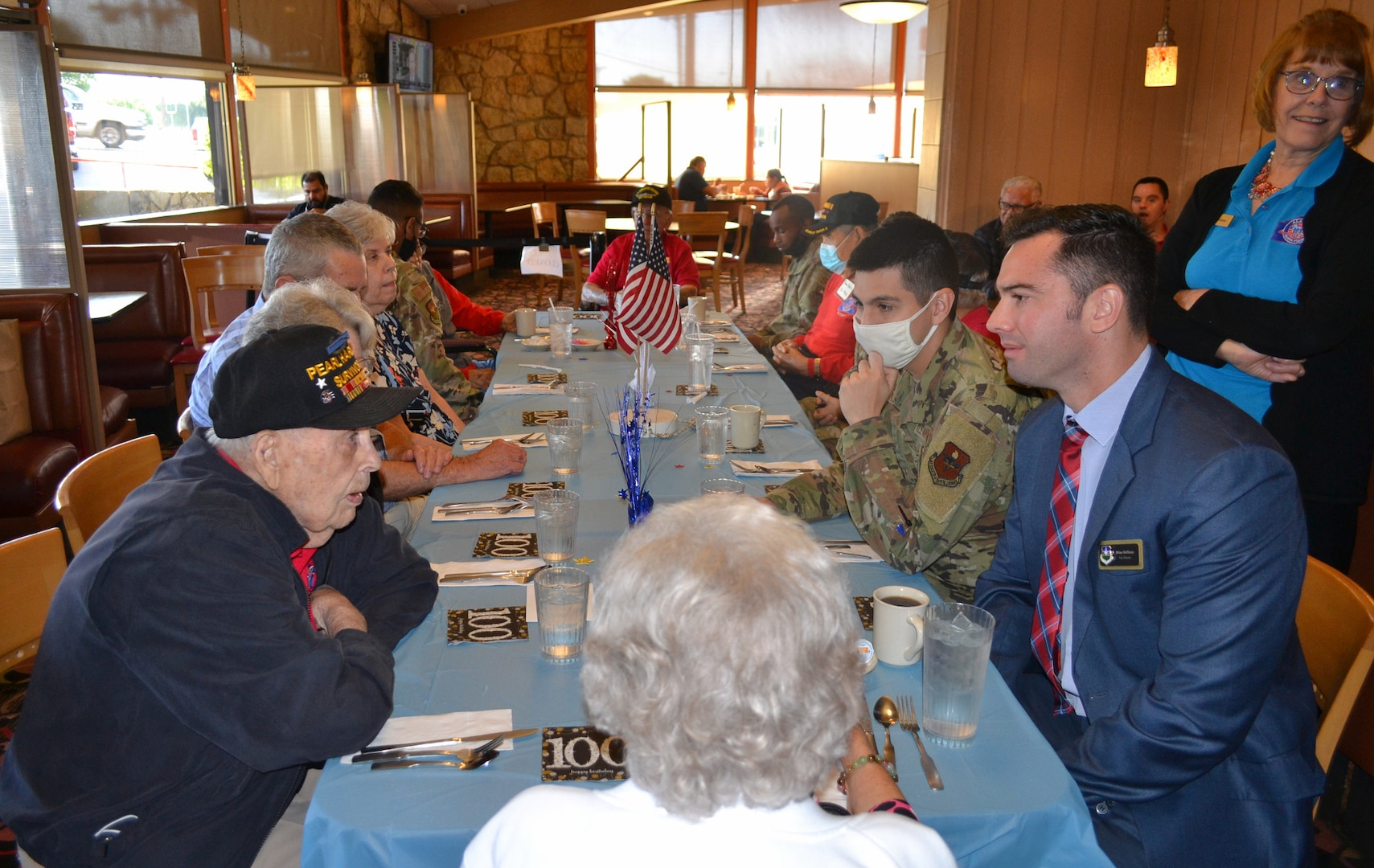 Veteran's 100th birthday