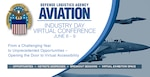 "Defense Logistics Agency Aviation hosts its first virtual Industry Day June 8-9, 2021. Suppliers are invited to the opening sessions, may participate in 14 sessions addressing acquisition and supply chain topics and can showcase their capabilities via a ""bring your own booth"" virtual display. (DLA Graphic by Paul Crank)."