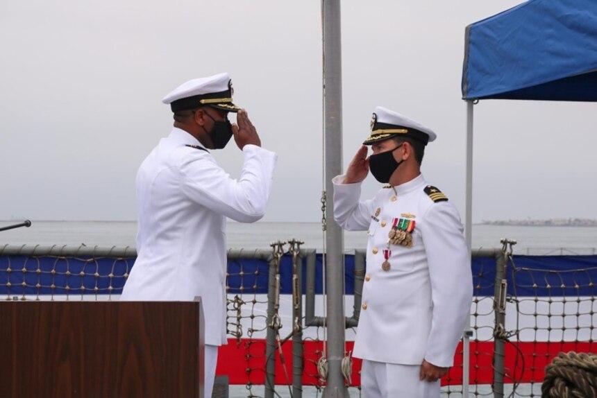USS Howard Change of Command