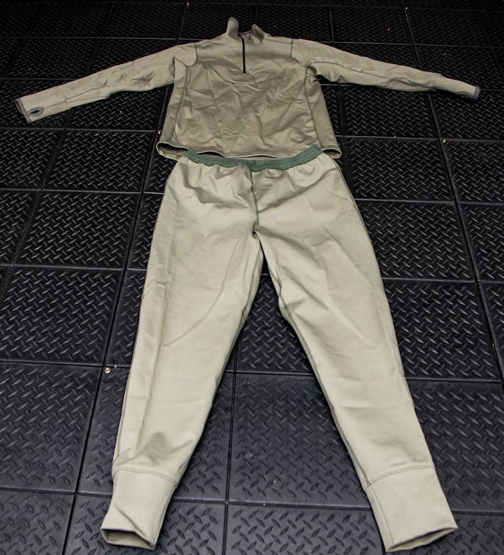 Photo of new Uniform Integrated Protective Ensemble (UIPE) Air system two-piece undergarment.