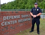 Defense Logistics Agency Installation Management at Richmond recognizes Police Officer Scott Wiseman 
