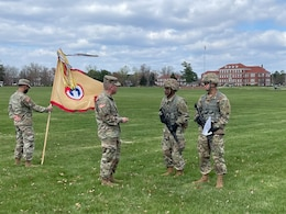 command sergeant major talks to soldiers