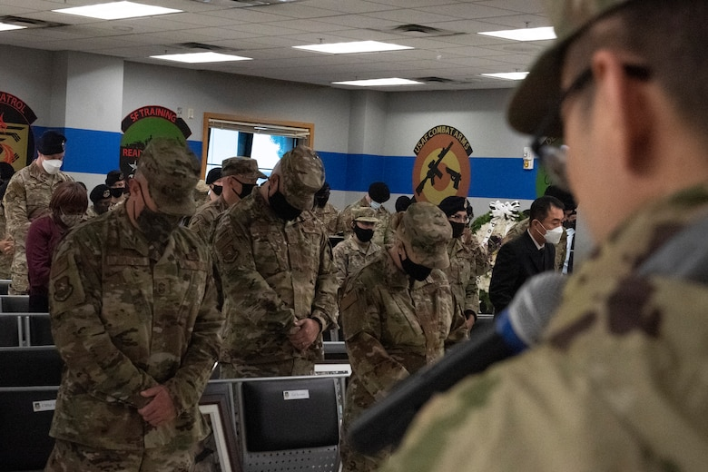 51st Security Forces Squadron kicked off their Police Week event with a memorial ceremony in honor of the law enforcement men, women, and canine working dogs who lost their lives over the last year.