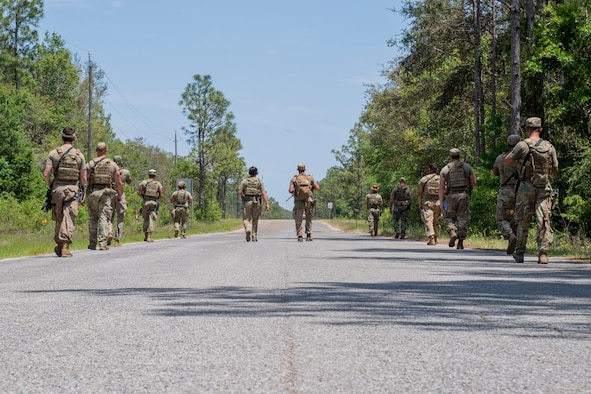 Photo of Airmen conducting area security operations