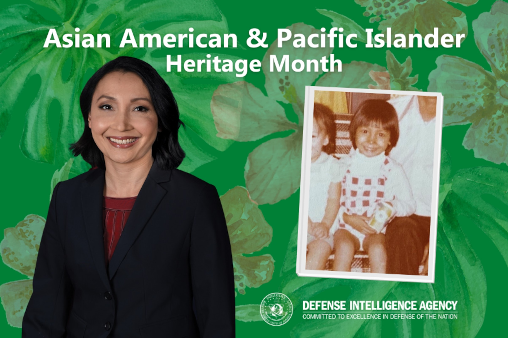 Van Hendrey, who manages DIA's Machine-assisted Analytic Rapid-repository System program, immigrated as a child to the U.S. from Vietnam. (Photos courtesy of Van Hendrey.Graphic by DIA Public Affairs)