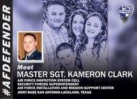 Graphic of Master Sgt. Kameron Clark