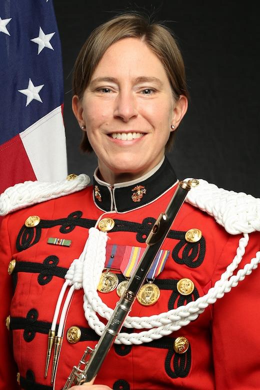 "Gunnery Sergeant Heather Zenobia, ""The President's Own"" United States Marine Band Flutist, Official Portrait"