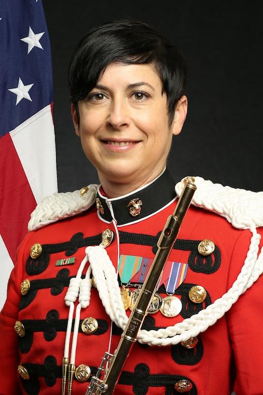 "Gunnery Sergeant Kara Santos, ""The President's Own"" United States Marine Band Flutist, Official Portrait"