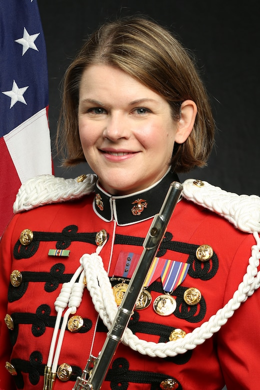 "Master Sergeant Elisabeth Plunk, ""The President's Own"" United States Marine Band Principal Flutist, Official Portrait"
