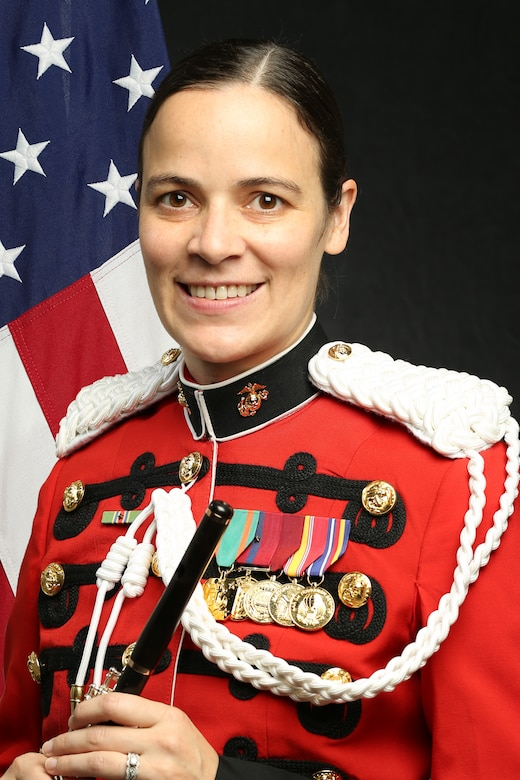 """Staff Sergeant Courtney Morton, """"The President's Own"""" United States Marine Band Piccolo Player, Official Portrait"""