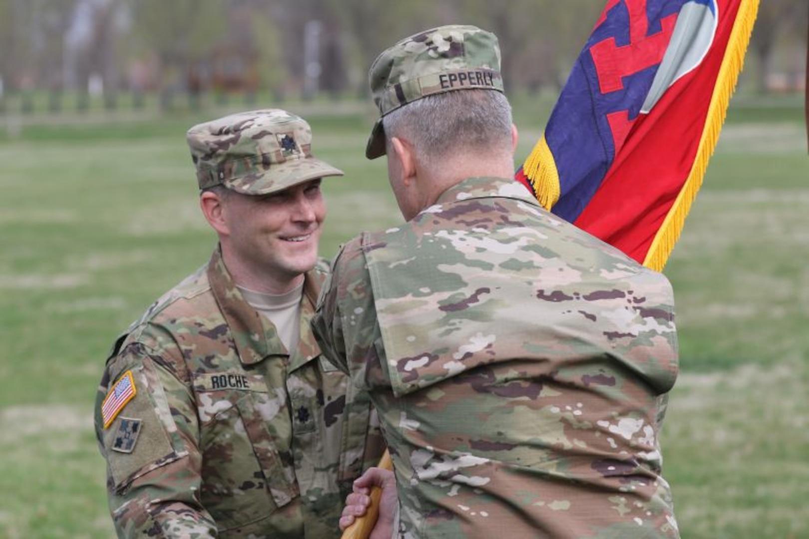 Roche takes command of 29th ID Headquarters Battalion