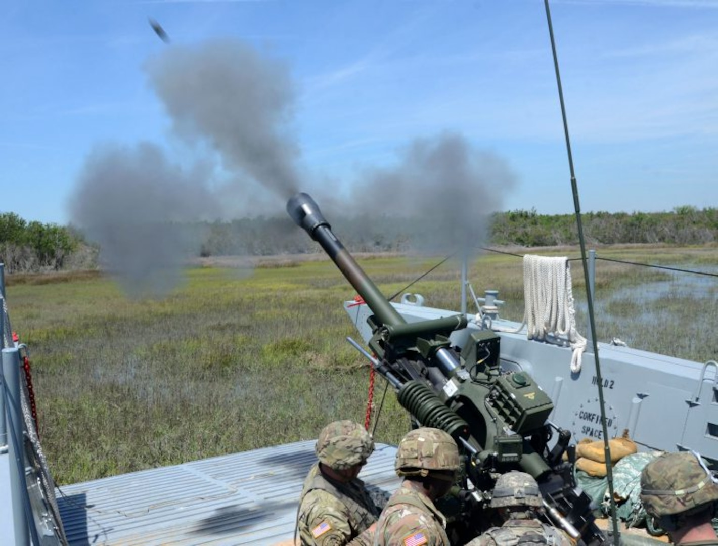 Thunder Soldiers conduct historic waterborne artillery exercise