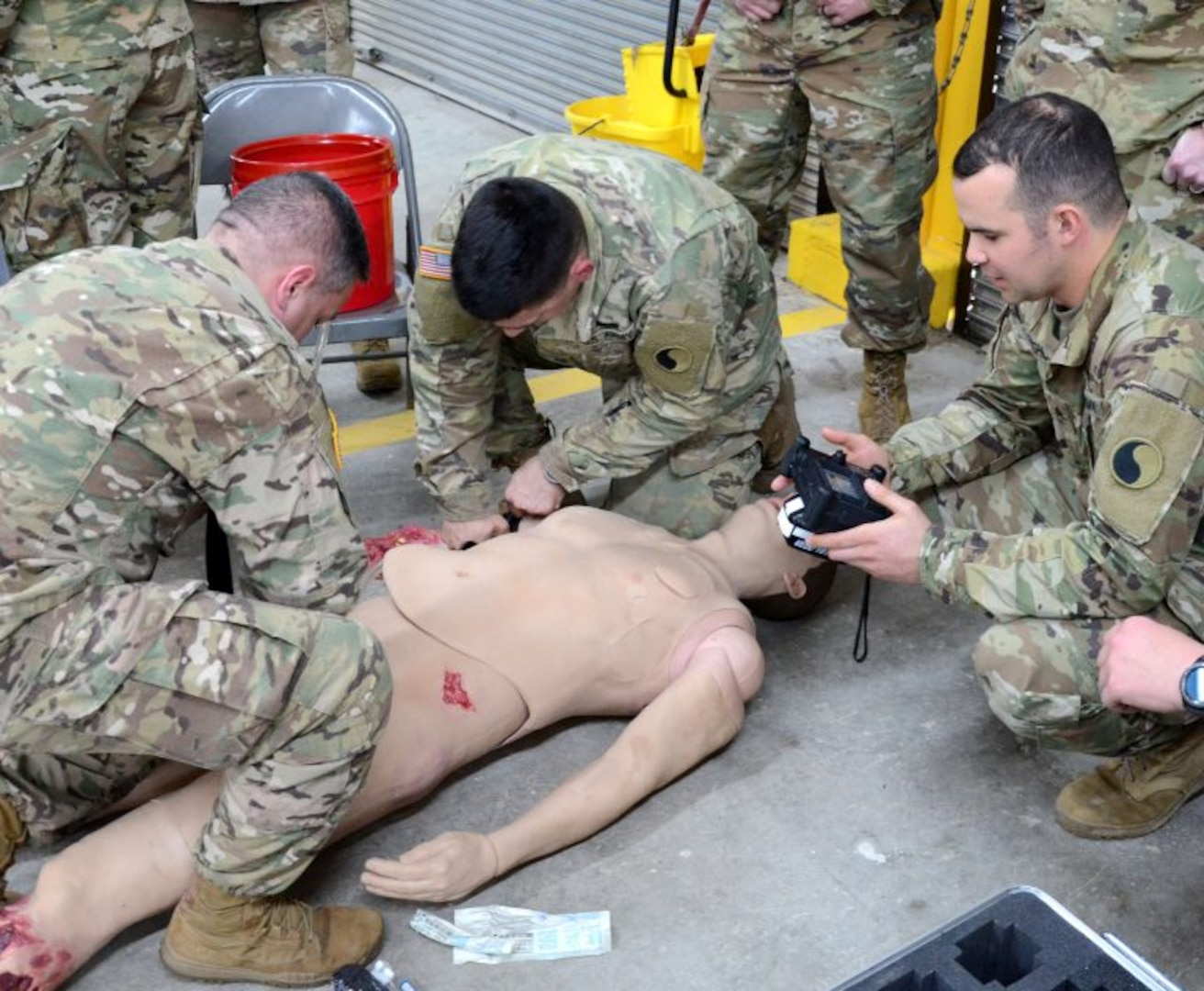 Medics train on new lifelike simulated patient at Fort Pickett