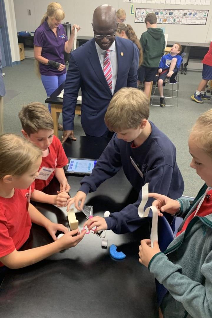 Secretary Hopkins visits Winchester STARBASE Academy